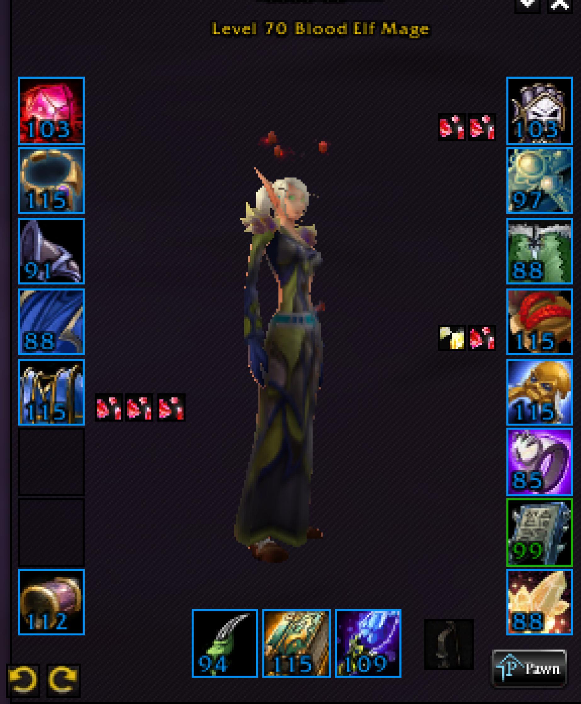 Blood elf female mage firemaw 1