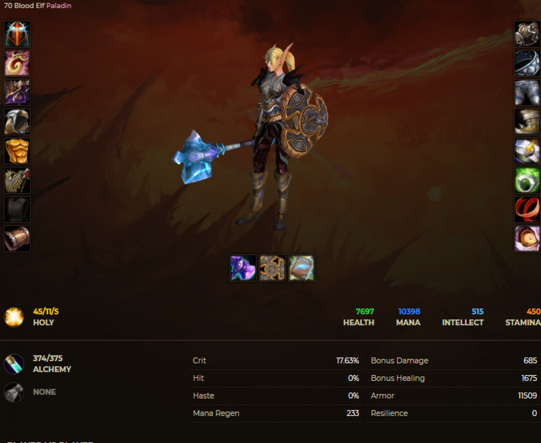 Blood elf female paladin windrunner 7