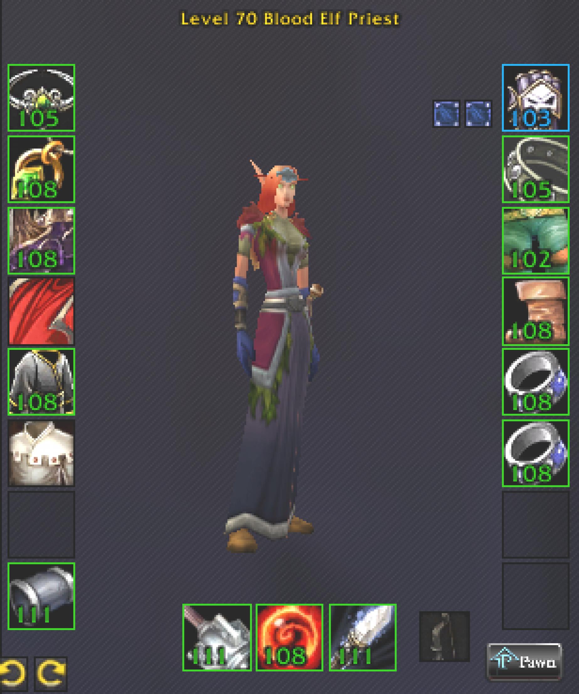 Blood elf female priest firemaw