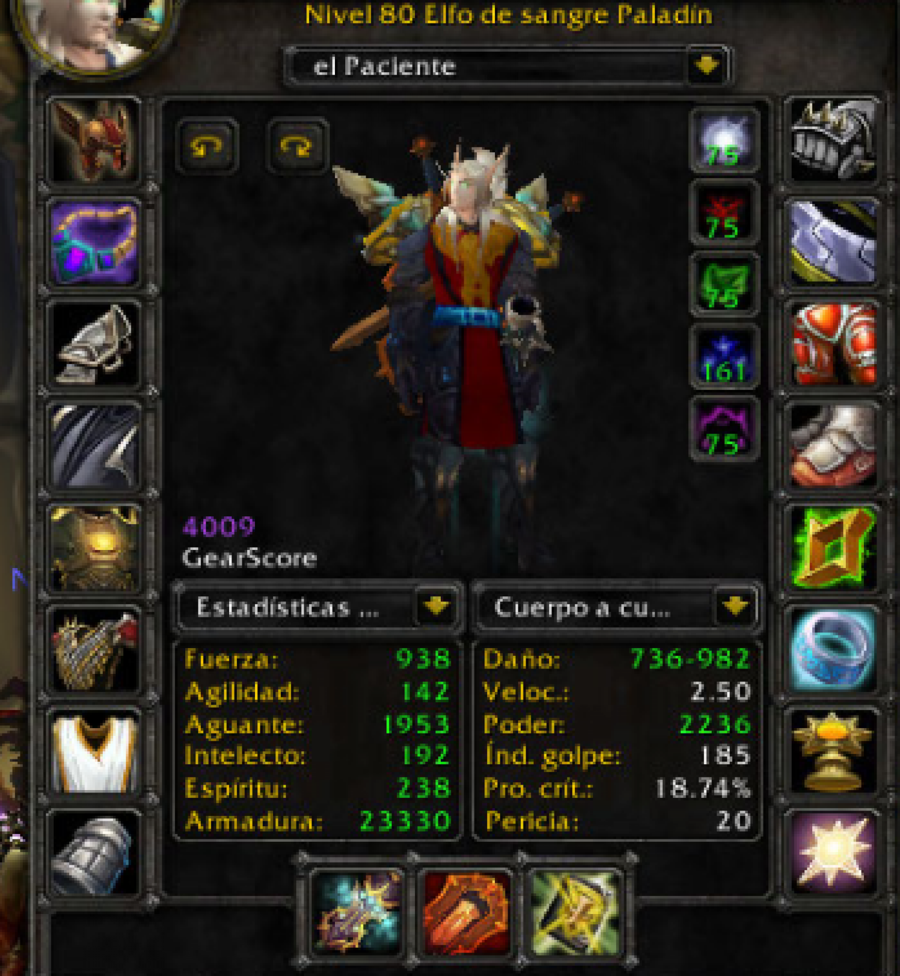 Blood elf male paladin mograine gg 9