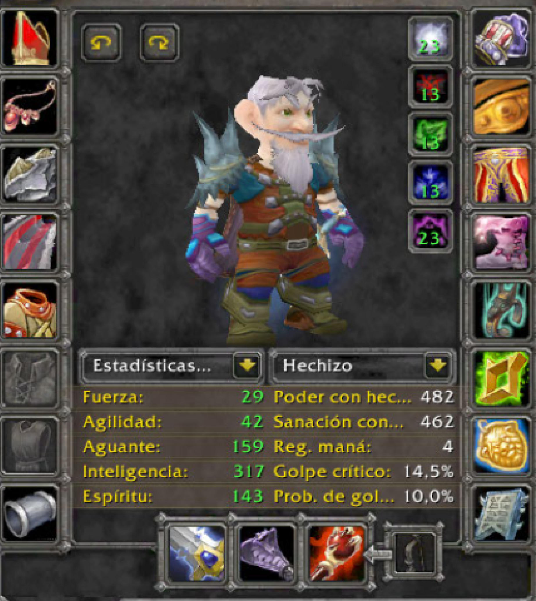 Gnome male mage Mandokir