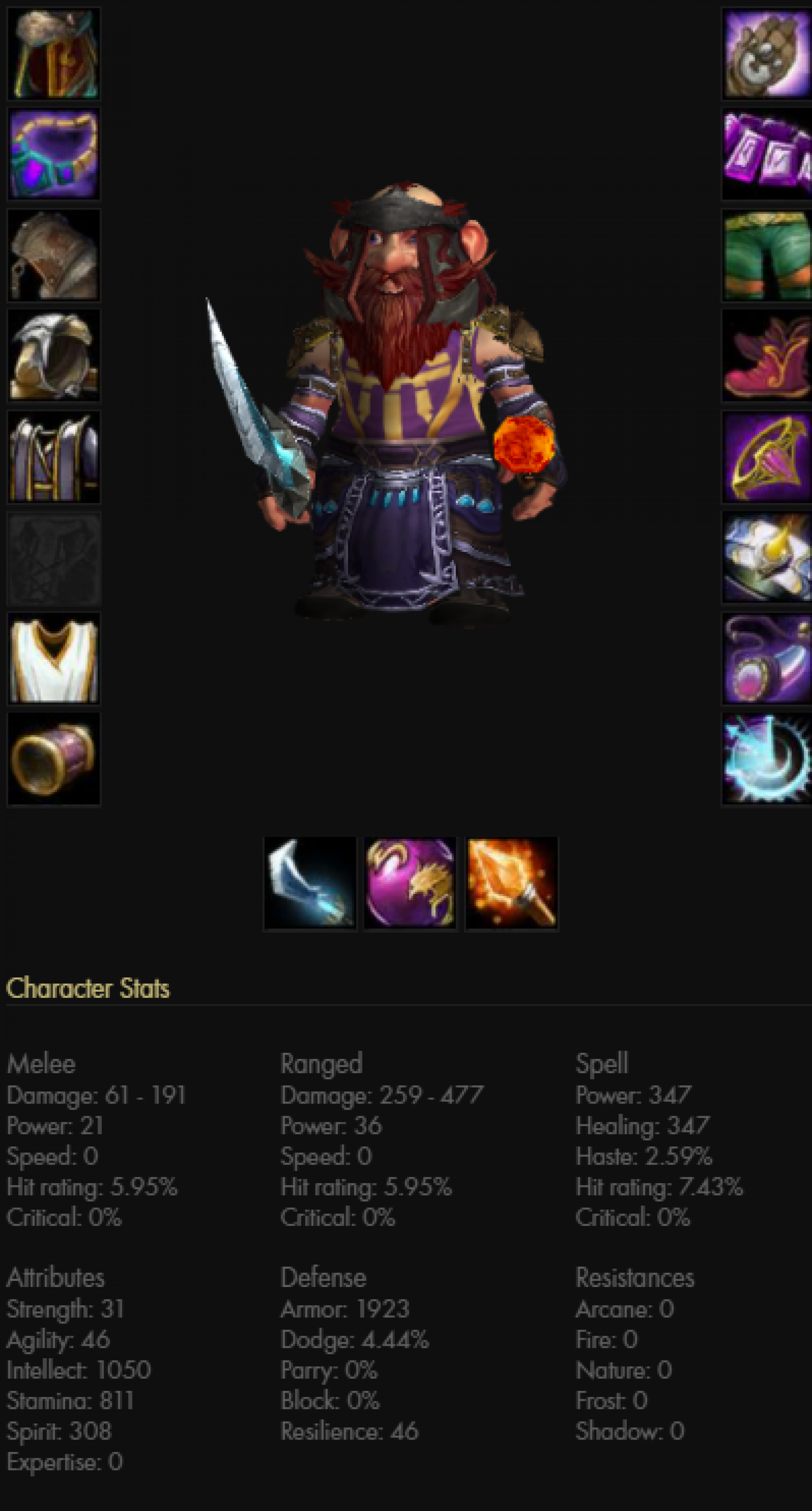 Gnome male mage frostmourne