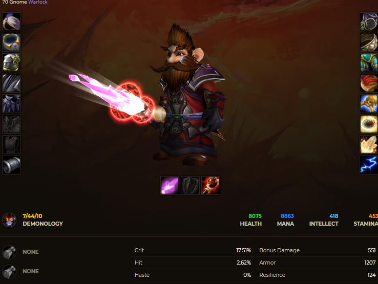 Gnome male warlock windrunner