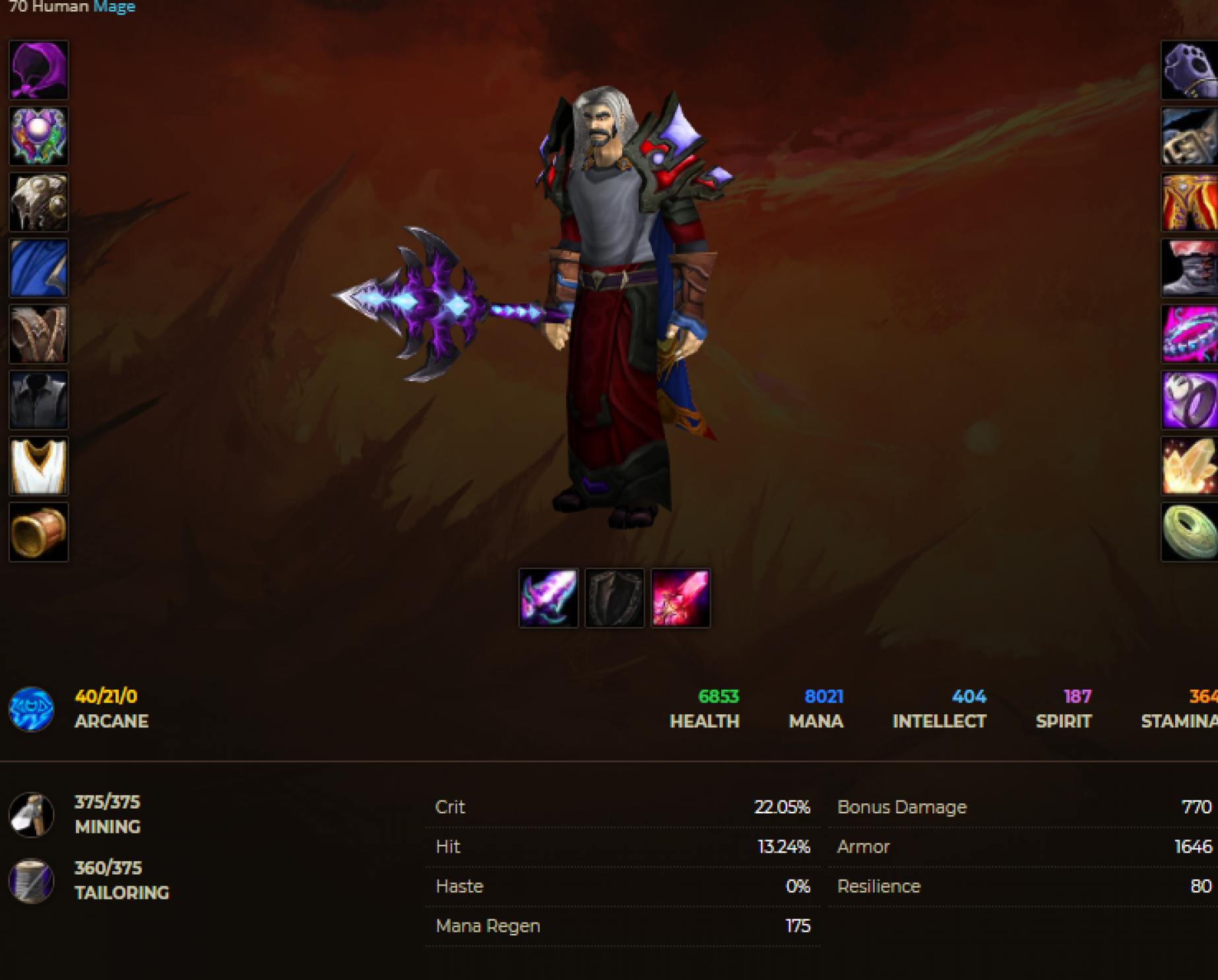 Human male mage windrunner 2