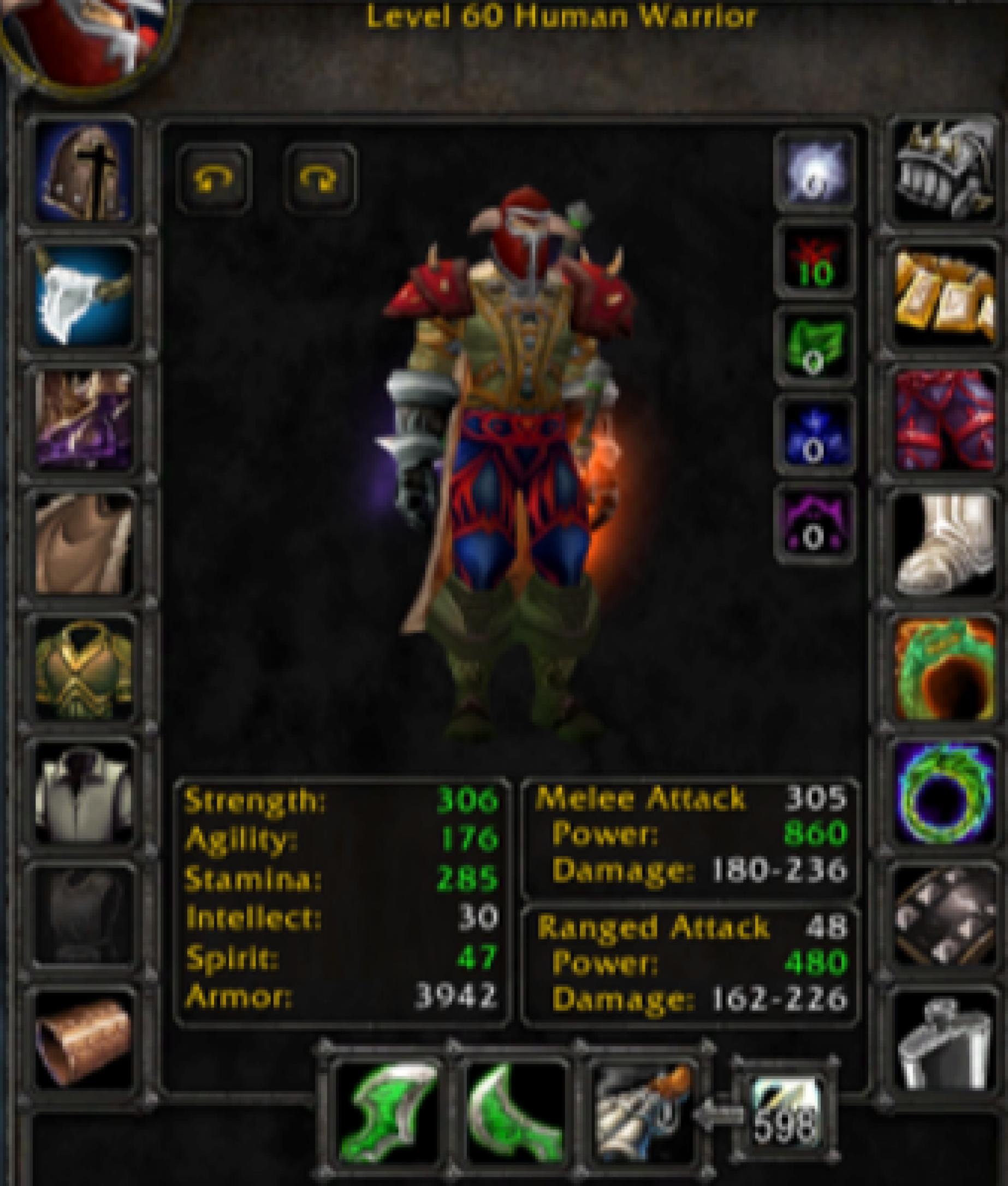 Human male warrior heartseeker