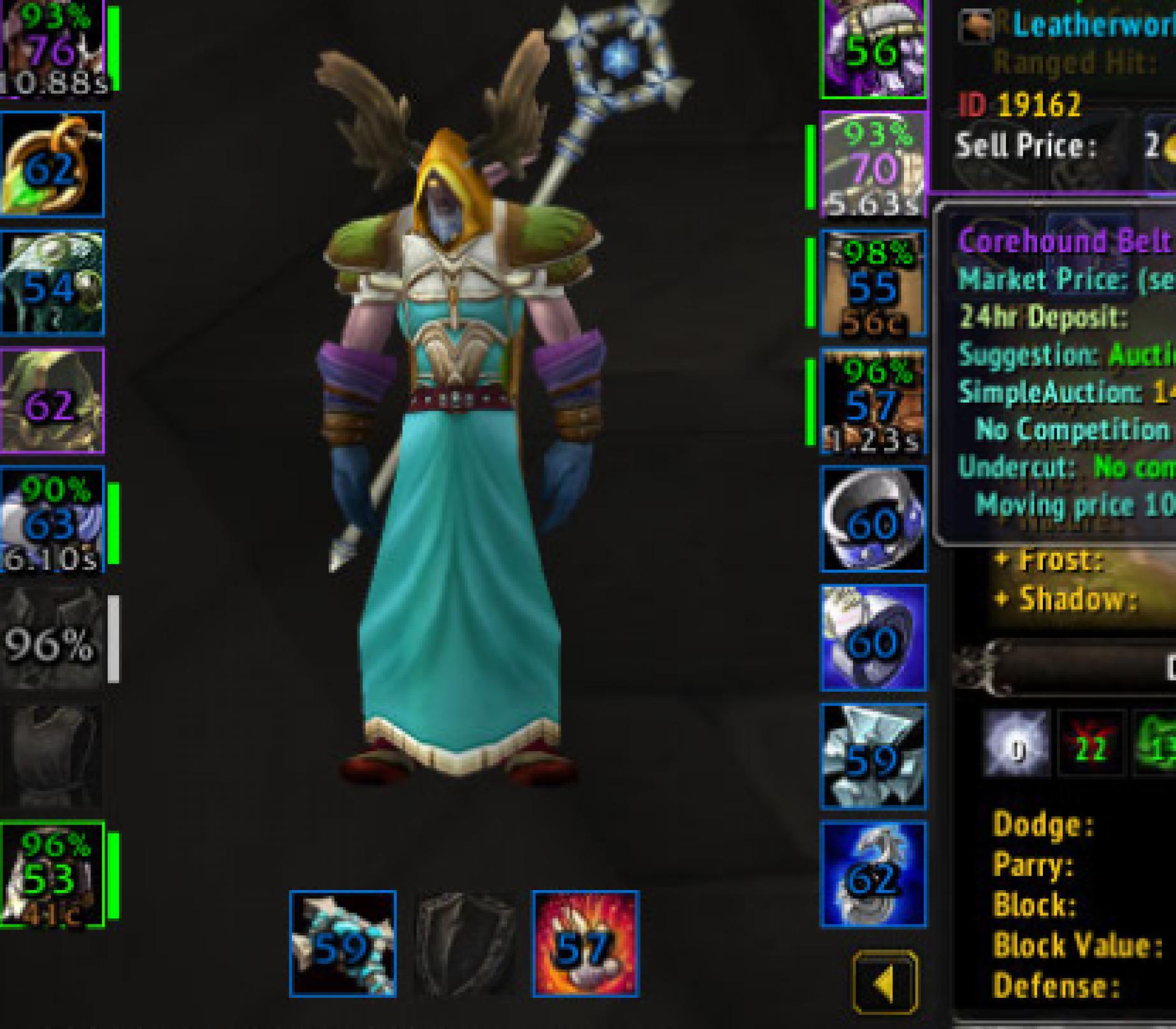 Night elf male druid zandalar tribe