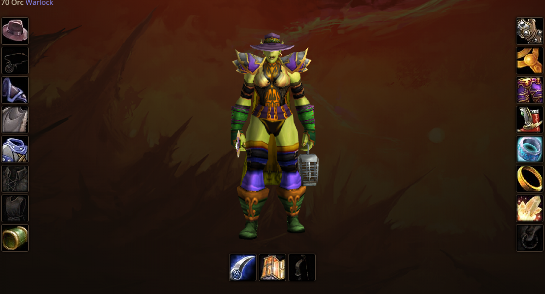 Orc female warlock windrunner