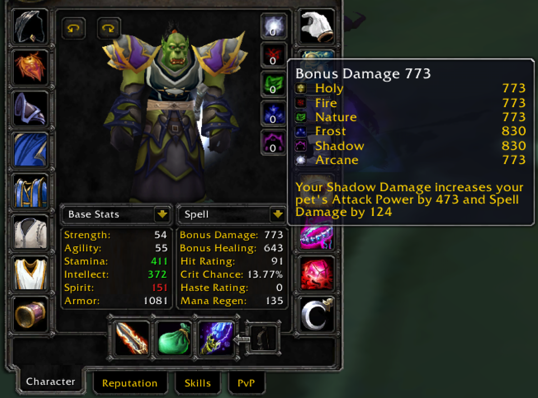 Orc male warlock mankrik