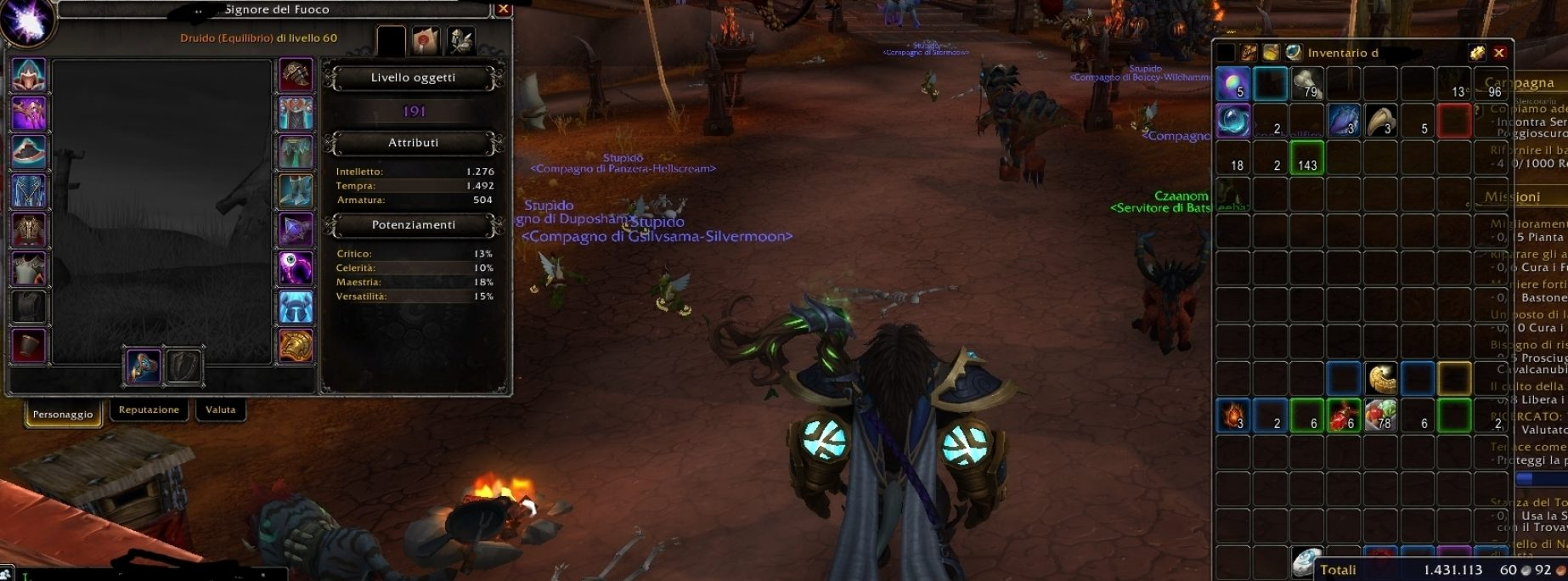 Tauren male druid pozzo