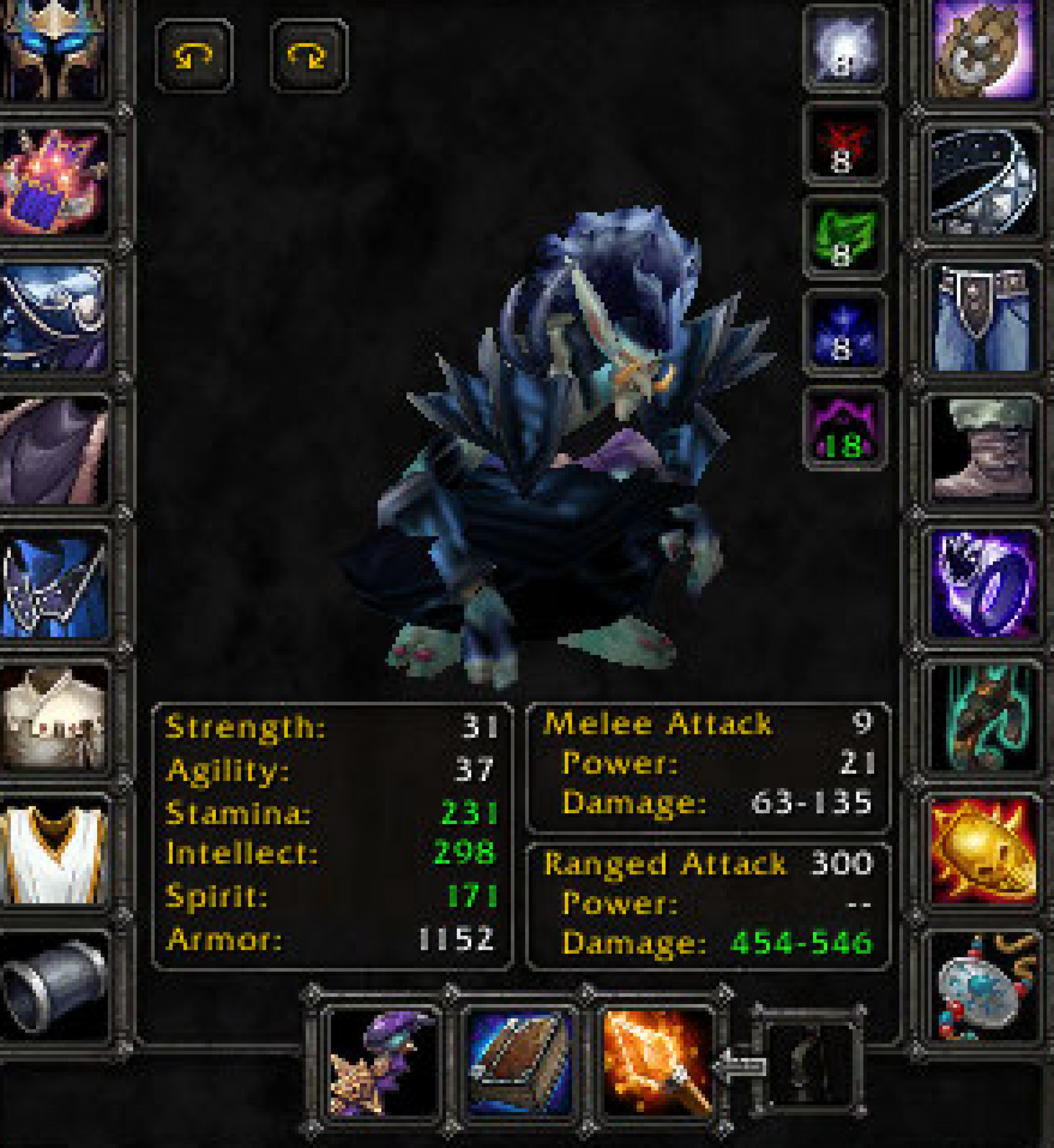 Troll male mage Stonespine