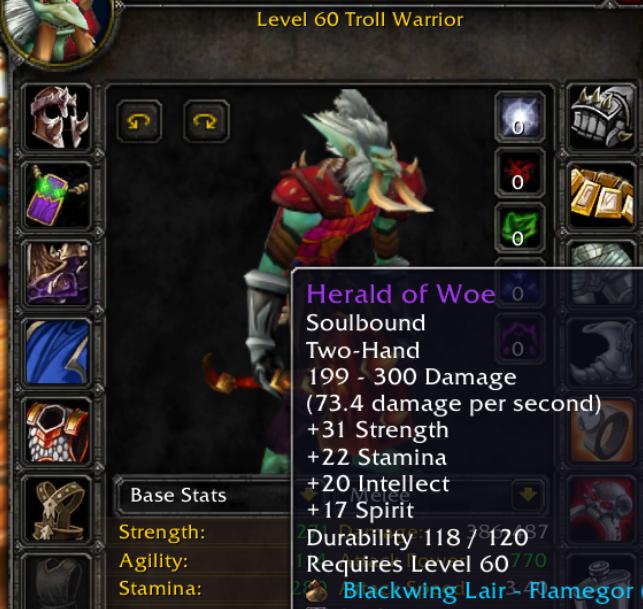 Troll male warrior Razorgore