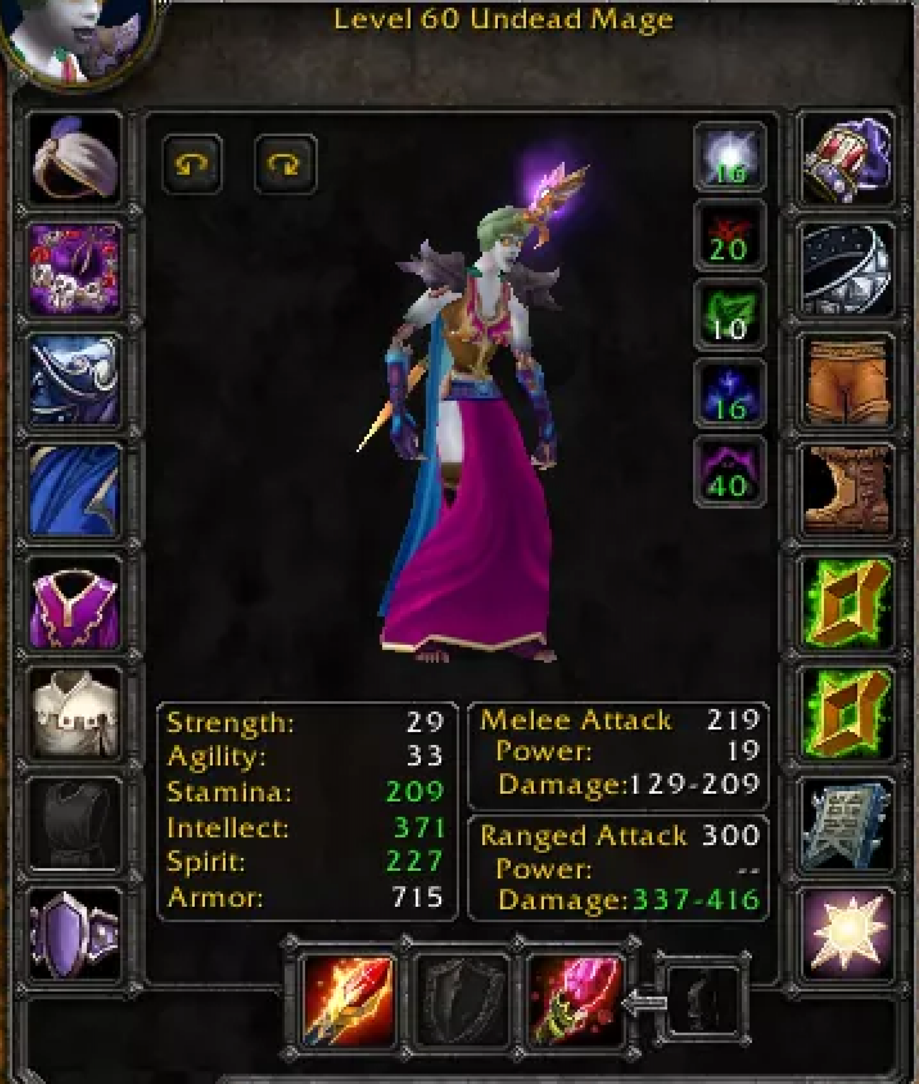 Undead female mage arugal