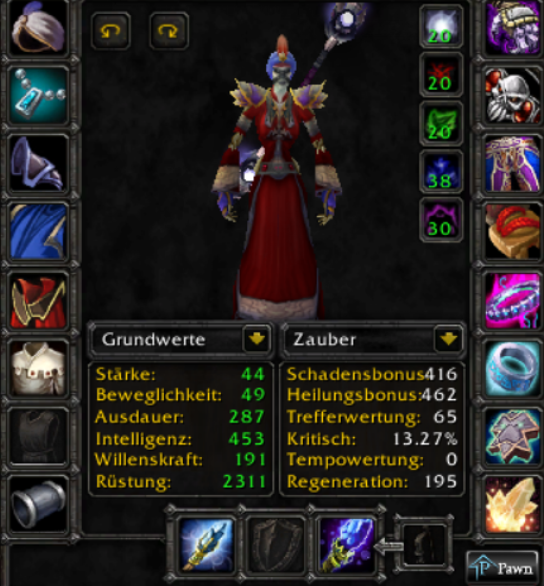 Undead female mage lucifron