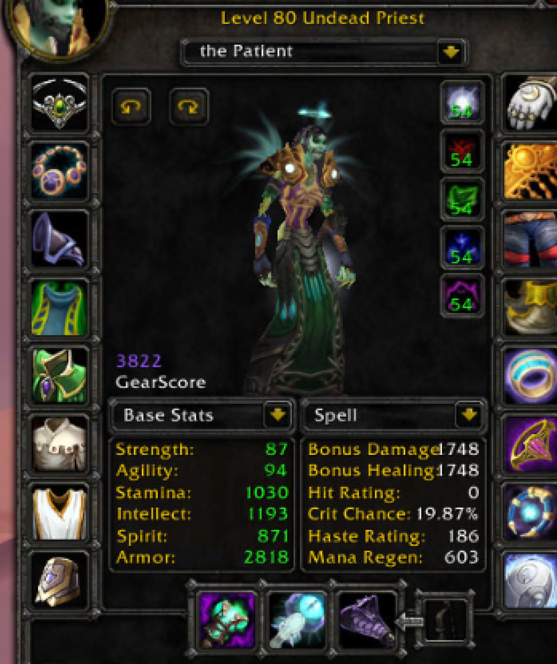 Undead female priest mograine gg
