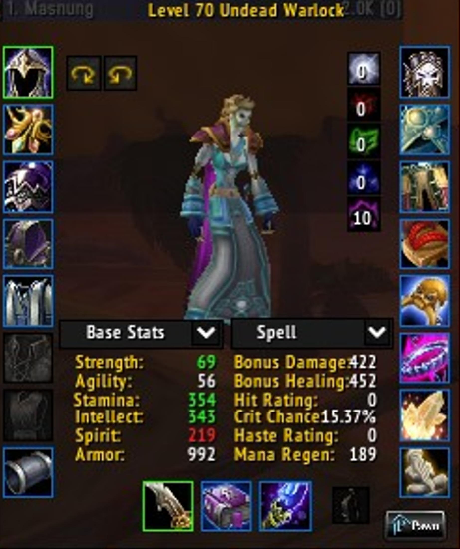 Undead female warlock arugal