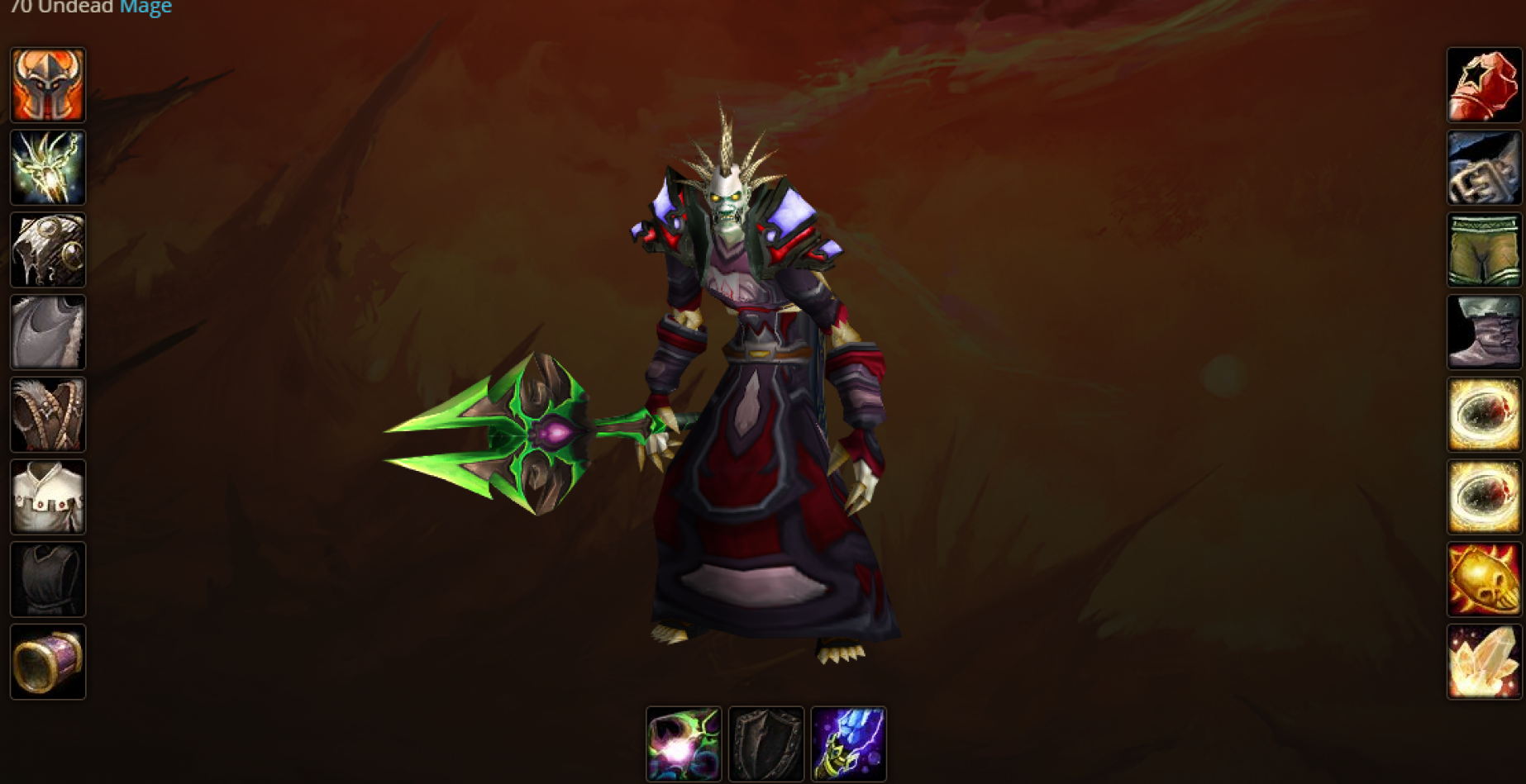Undead male mage Endless