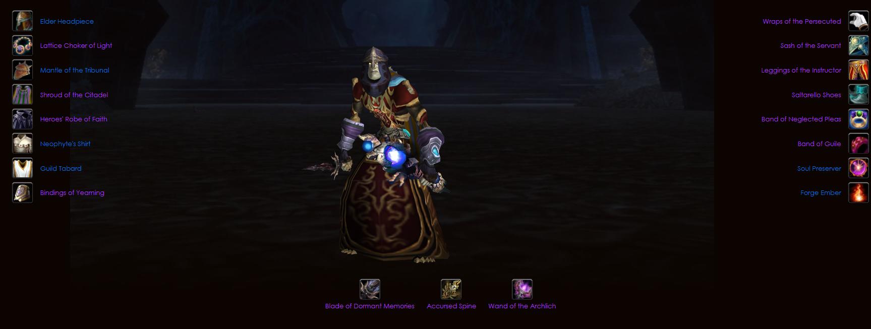 Undead male priest voltarus