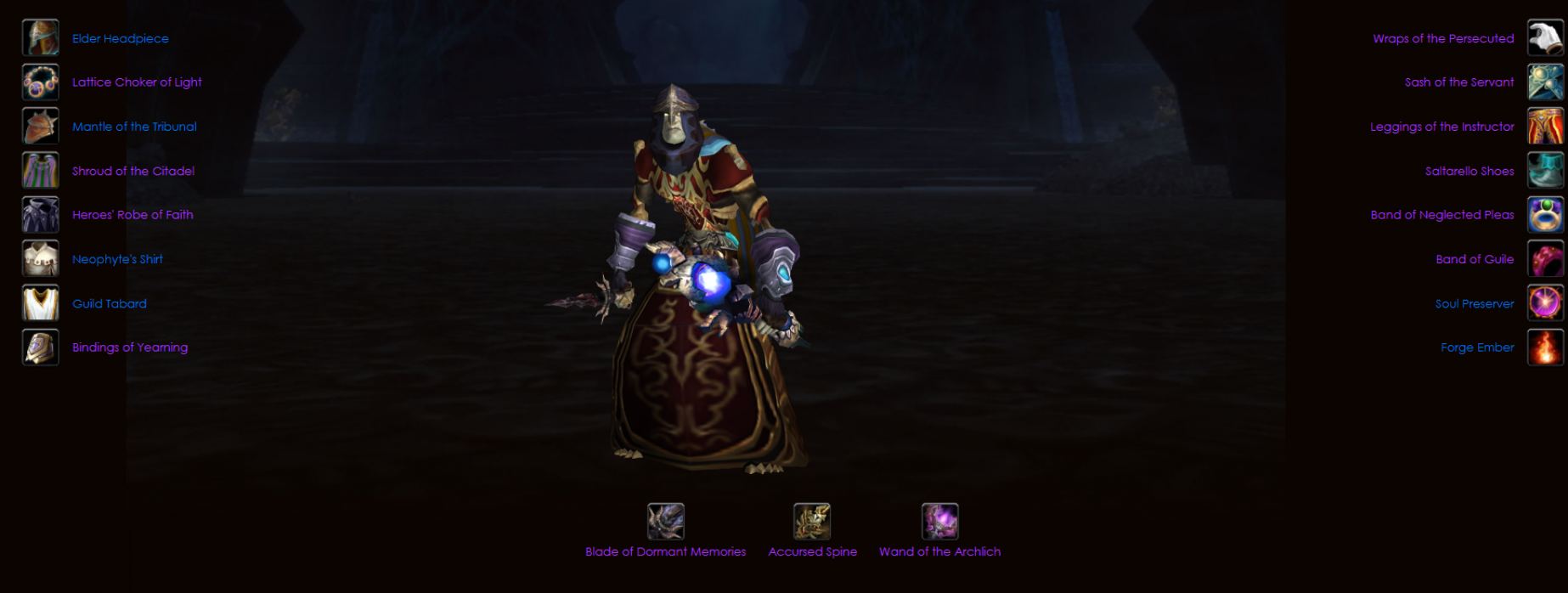 Undead male priest voltarus