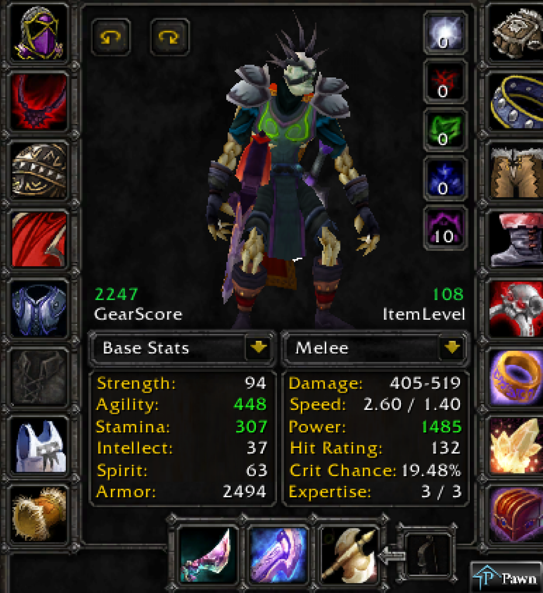 Undead male rogue Firemaw 2