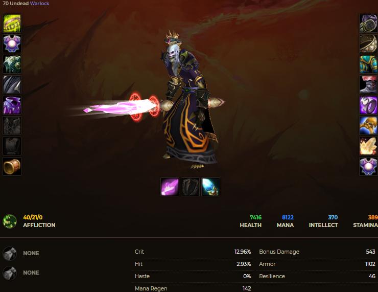 Undead male warlock windrunner 4