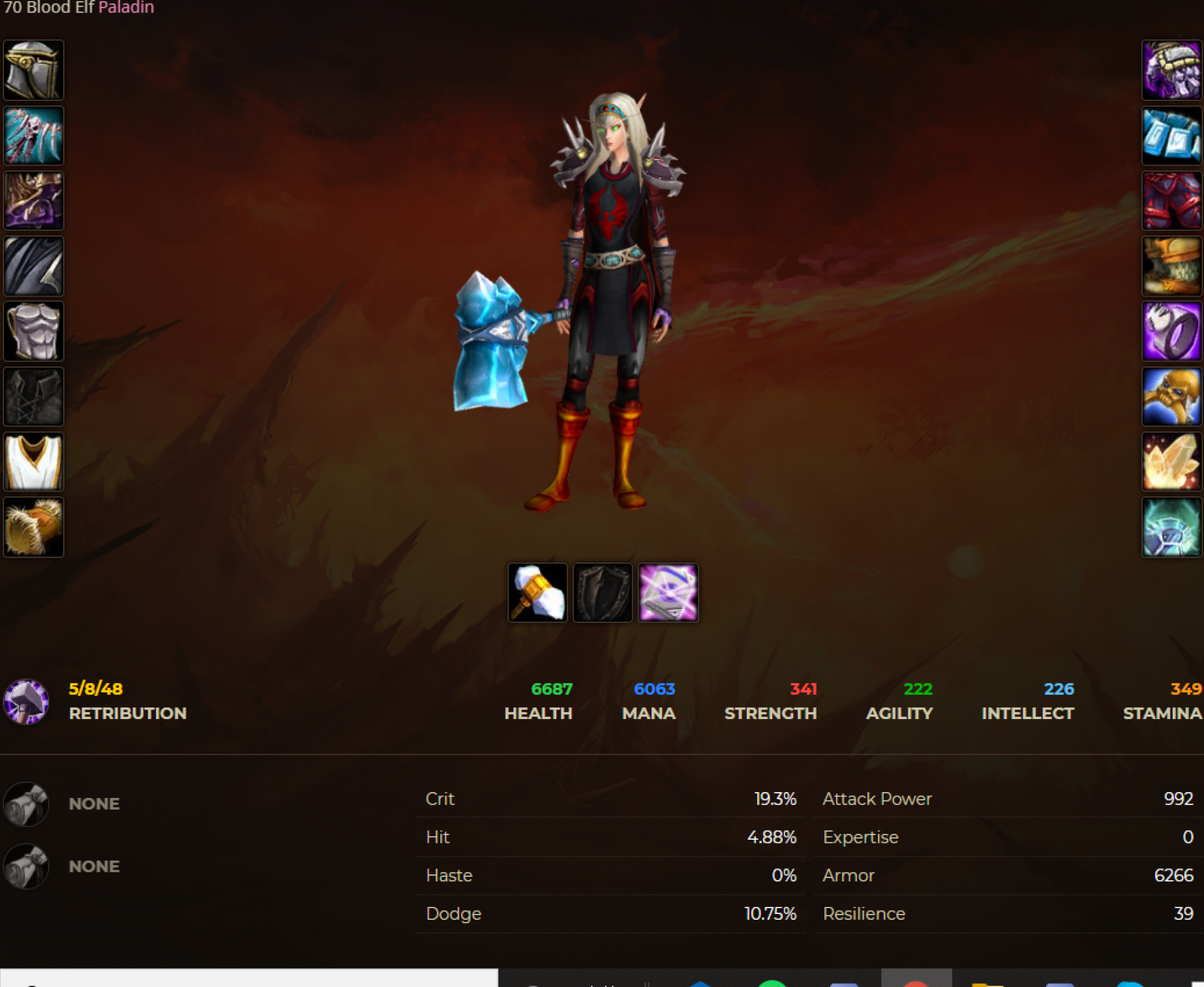 Blood elf female paladin windrunner 4