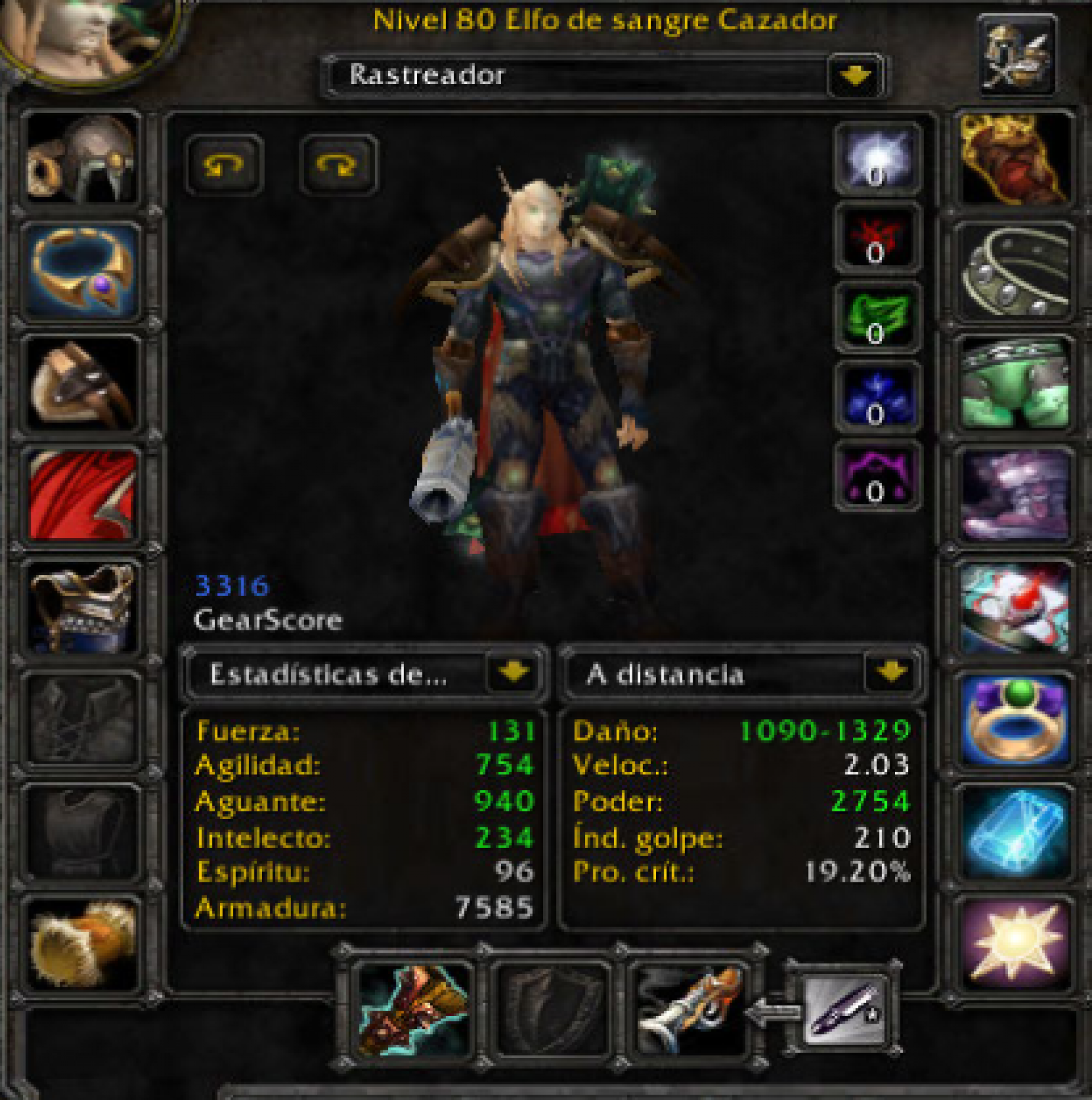 Blood elf male hunter mograine gg 2