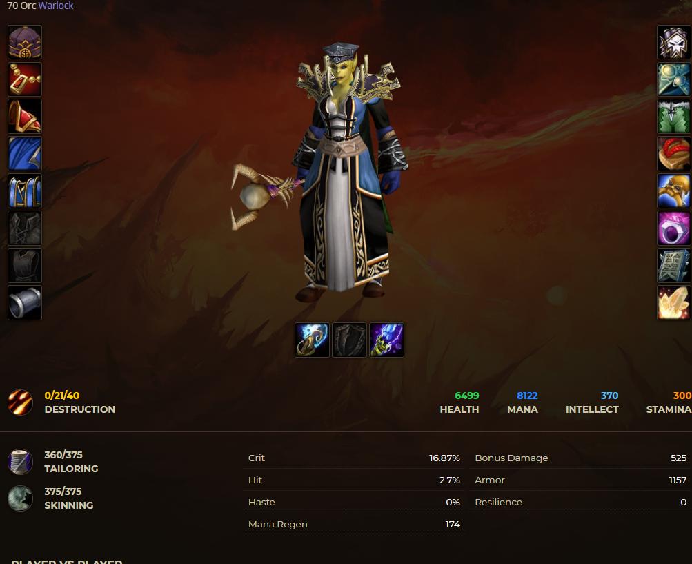 Orc female warlock windrunner 4