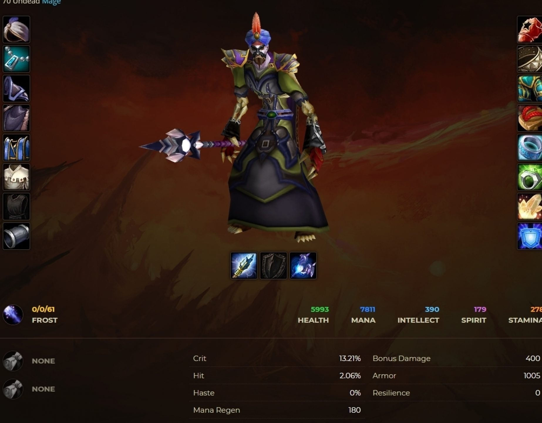 Undead male mage windrunner 4