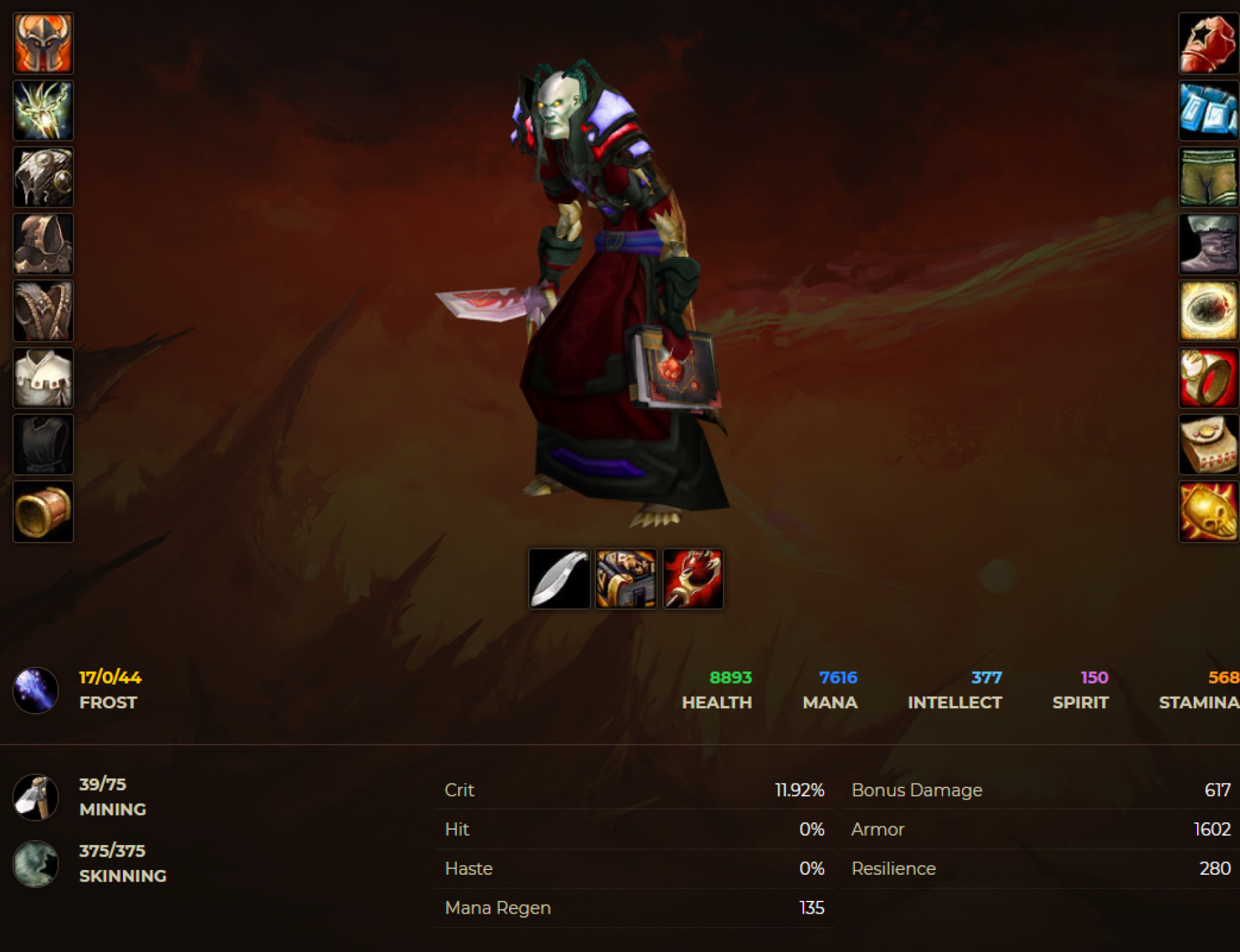 Undead male mage windrunner 5