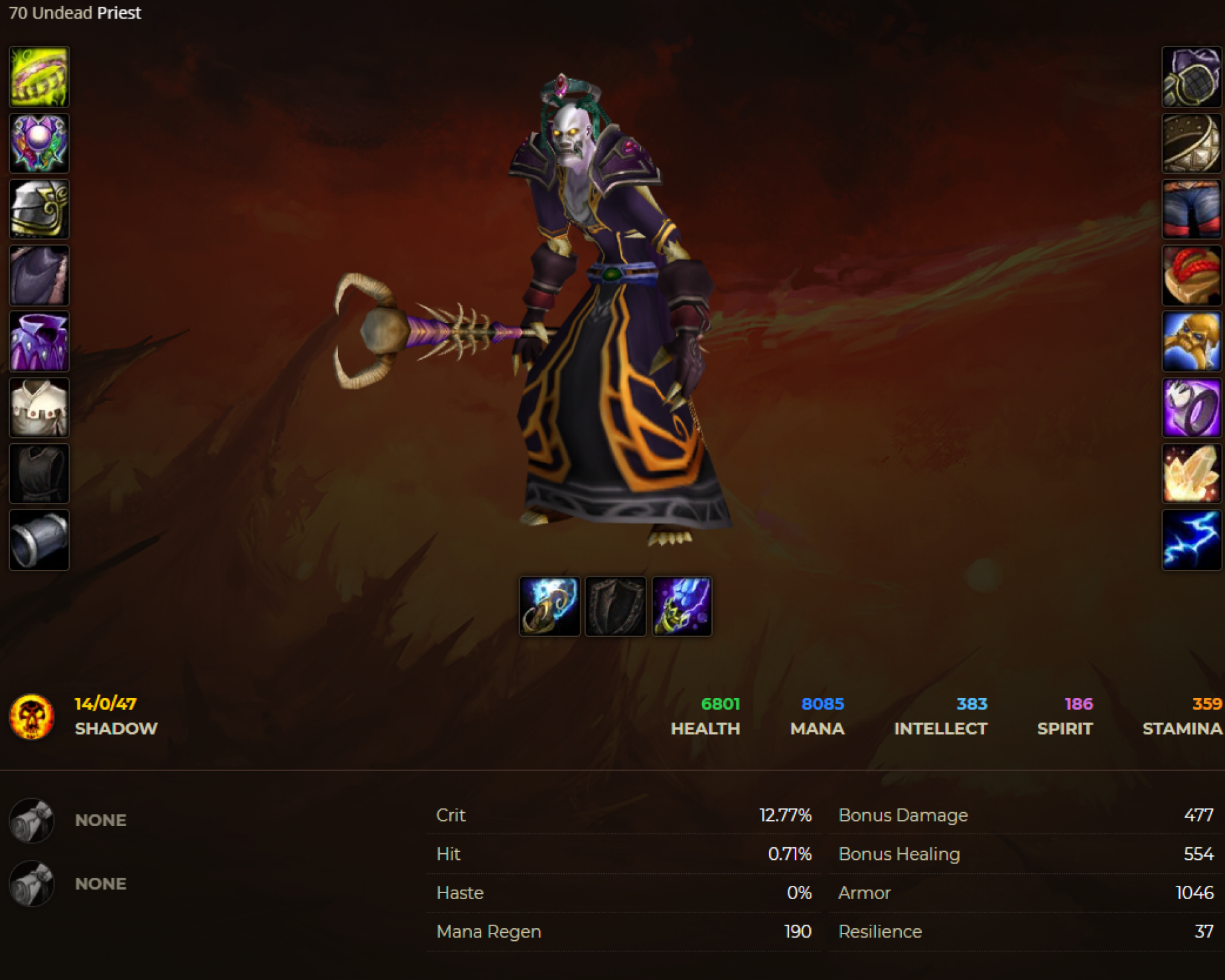 Undead male priest windrunner