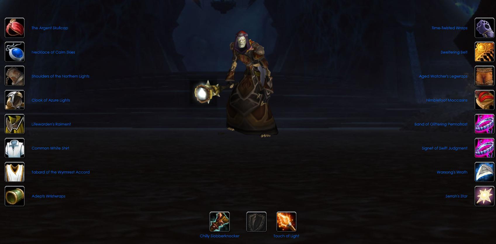 Undead male warlock voltarus
